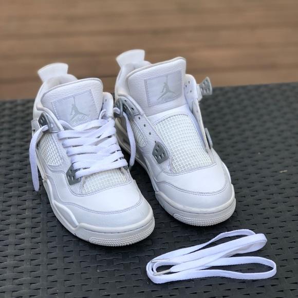 huge sale 8b73a be09e Jordan retro 4s Pure Money (all white)